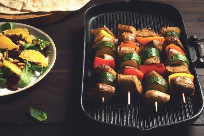 Quorn Chef's Selection Wild Garlic & Parsley Sausage Kebabs