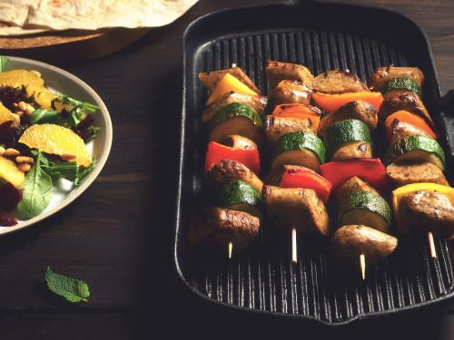 Quorn Chef's Selection Wild Garlic & Parsley Sausage Kebabs