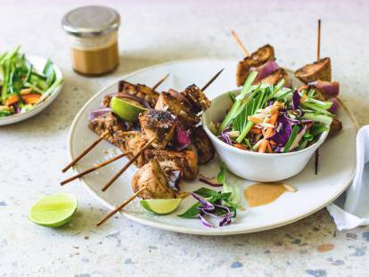 Brochettes asiatiques aux filets vegan de Quorn