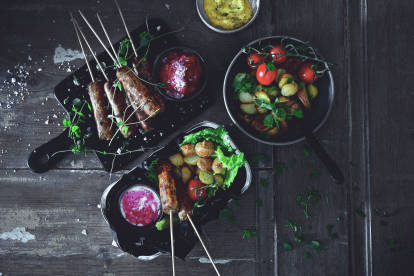 vegan quorn sausage with oven-roasted potatoes recipe