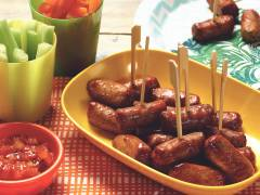 quorn cocktail sausages on a stick vegetarian recipe