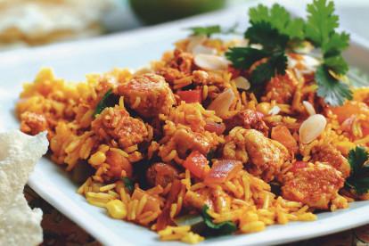 Quorn無肉肉片印度香飯