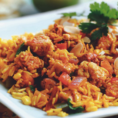 Biriyani with Quorn Pieces