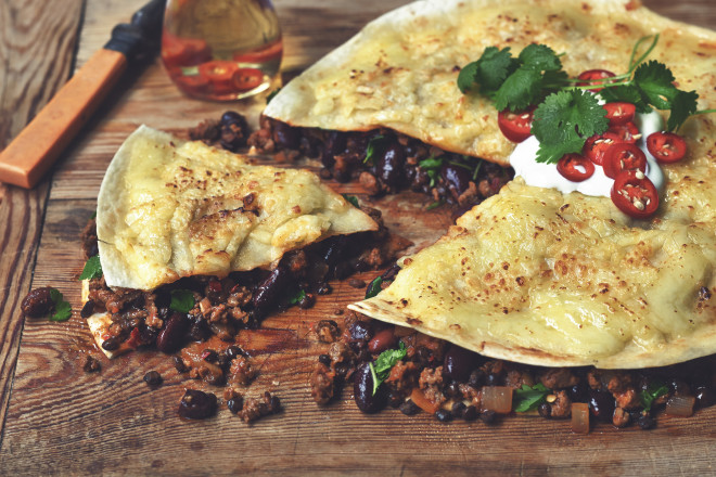 Baked Enchilada Recipe with Quorn Mince & Cheese