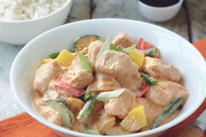 Malaysian Panang Curry Recipe with Quorn Pieces