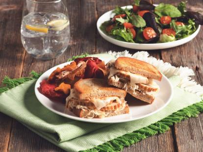 Quorn Turk'y Roast Leftovers Reuben Sandwiches