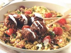quorn swedish style balls with spicy couscous vegetarian recipe