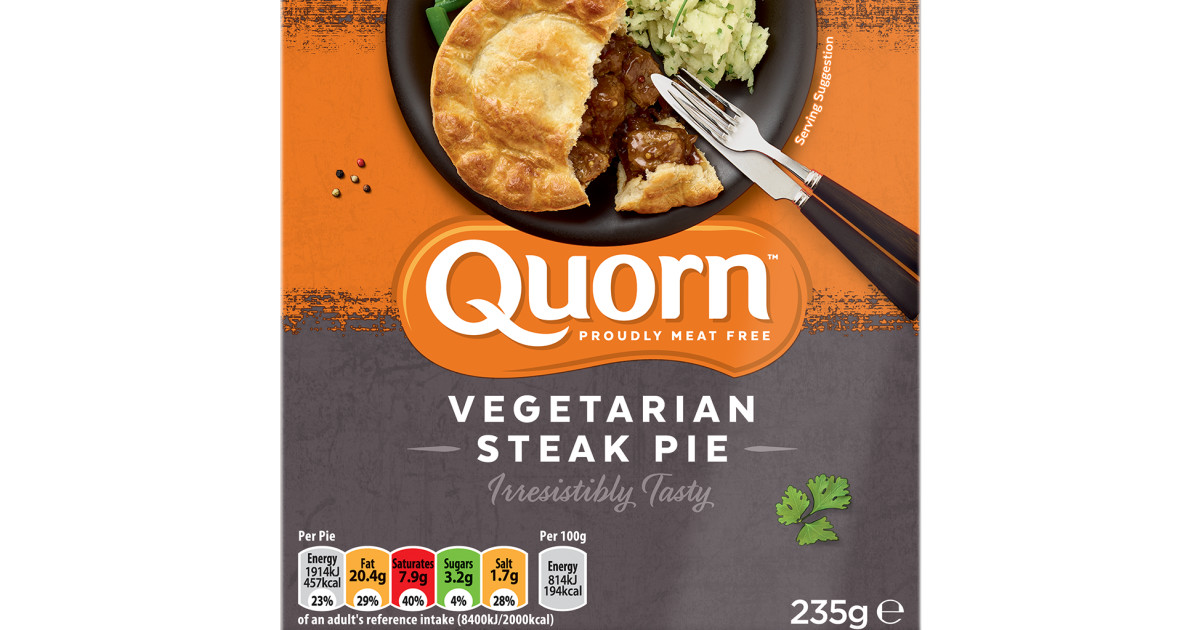 Quorn Vegetarian Steak Pie   Quorn