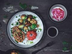 Quorn pepparstek med rostad potatis