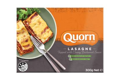 meat free quorn lasagne family ready meal