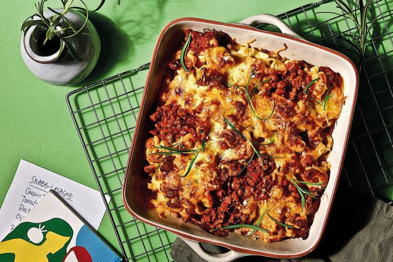 Vegetarisk, lasagne, quorn-färs, quorn, smakrik lasagne.