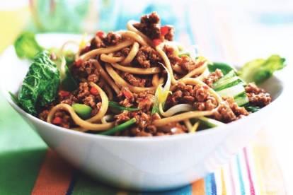 Japanese Udon Noodles Stir Fry