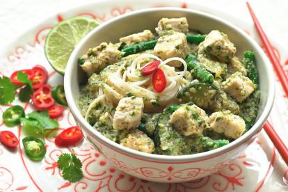Gustoso curry thai con Cubetti Quorn