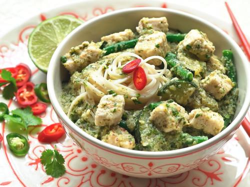 Thaise Groene Curry met Quorn™Stukjes