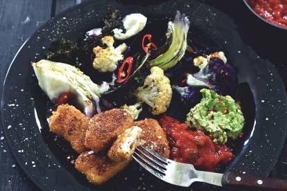 Recept på veganmat - vegannuggets med kål &dipp