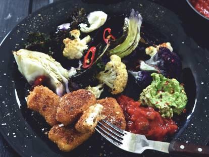 Veganrecept - vegannuggets med kål &dipp