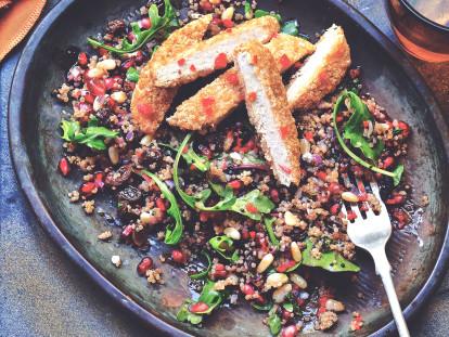 Recept på veganmat - Quorn Veganschnitzel medQuinoa