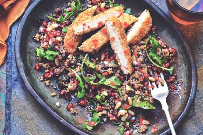 Quorn Meatless Chicken Patties with Herbed Quinoa