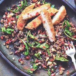 Vegan Quorn Schnitzel with Quinoa