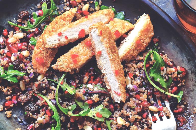 Quorn vegansk schnitzel med quinoa