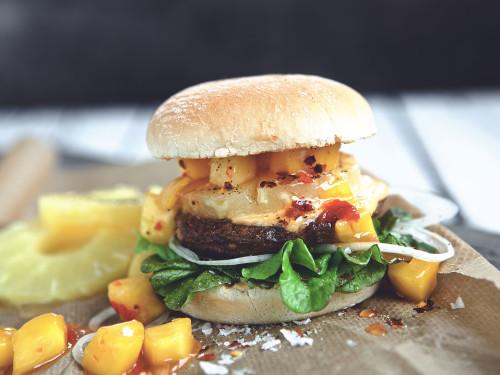 Hawaiian Mango Quorn Burger Recipe