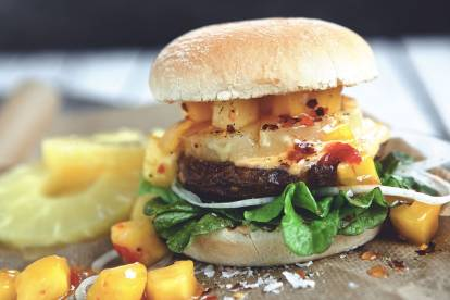 Hawaiian Mango Quorn Burger