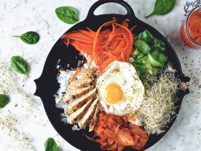 Vegetarian Korean Bibimbap Recipe with Quorn Fillets