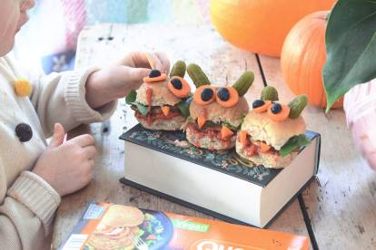 quorn vegan monster veggie halloween burgers recipe