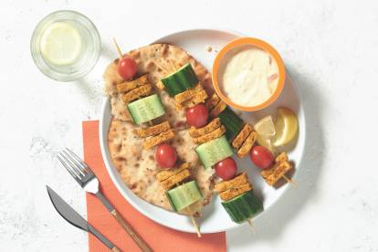 Quorn Tikka Strip Lunch Skewers