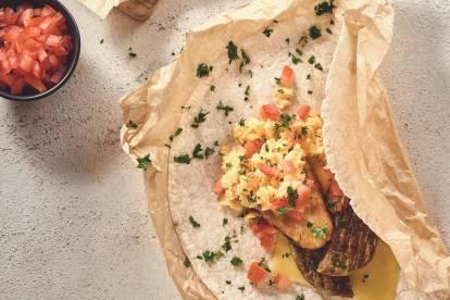 quorn breakfast wrap quick vegetarian recipe