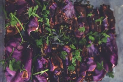 Foodjunkies heta rödkålsrullar med Quorn Färs