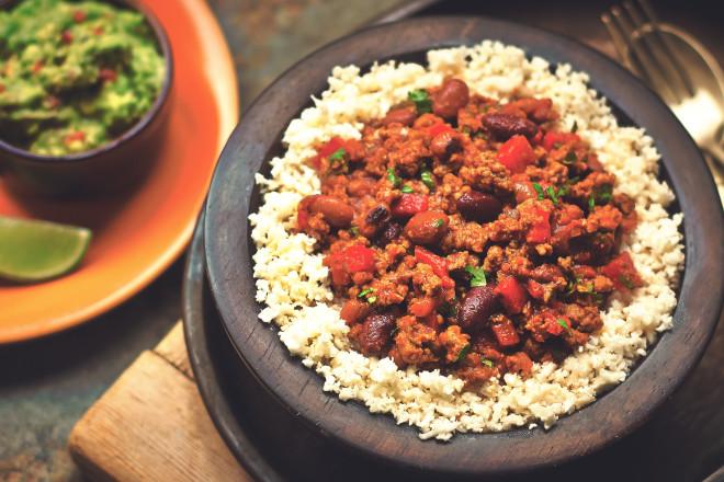 Quorn Meat Free Chilli Con Carne & Cauliflower Rice
