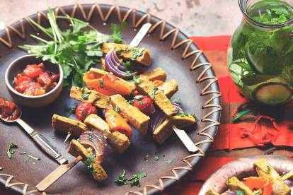 quorn vegan fillets kebab skewers recipe
