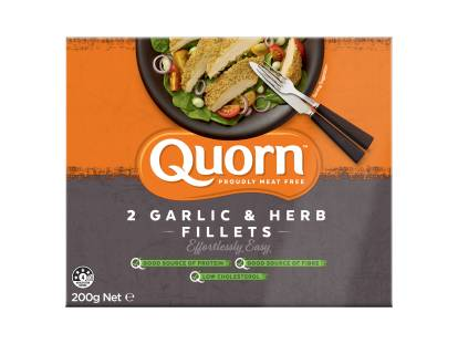 frozen meat free quorn garlic & herb fillets