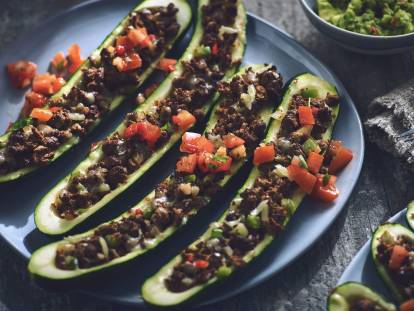 quorn stuffed zucchini tacos vegetarian recipe