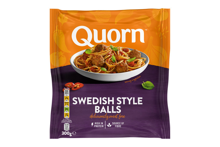 Meat free Swedish Style Balls product packaging with nutritional information