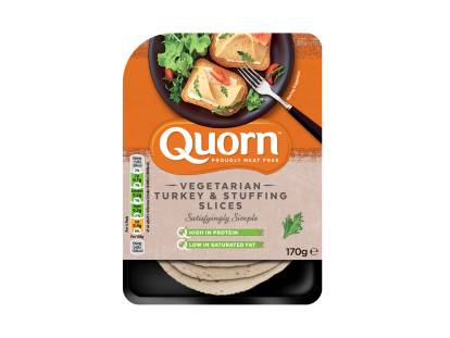 Quorn Vegetarian Turkey & Stuffing Slices