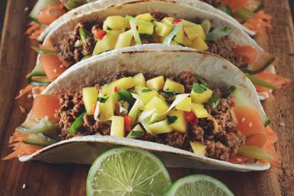 quorn meatless korean tacos vegetarian recipe