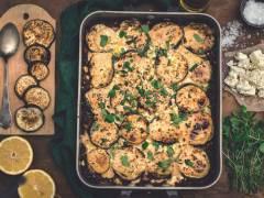 Vegetarisk moussaka med Quorn