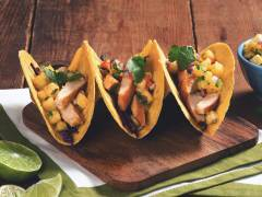 quorn meatless fillet tacos with pineapple salsa vegetarian recipe