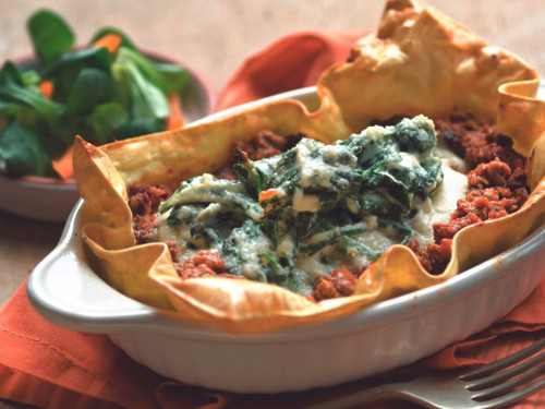 Quorn Meatless Open-Face Lasagna
