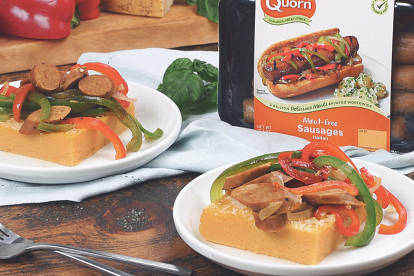 quorn meatless italian sausages with polenta vegetarian recipe