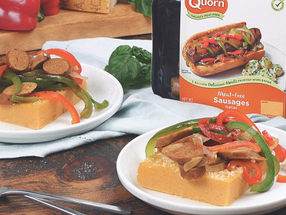 Quorn Meatless Italian Sausages with Polenta