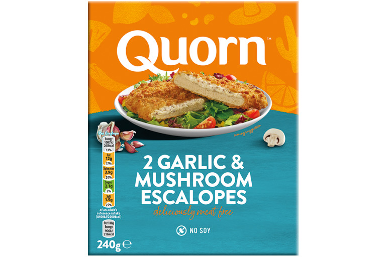 frozen meat free garlic & mushroom quorn escalopes