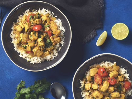 Brazilian Coconut Curry with Quorn Meatless Chicken
