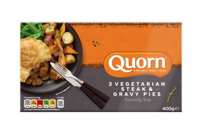 frozen meat free quorn steak & gravy pies ready meal