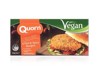 Quorn Vegan Hot and Spicy Burgers