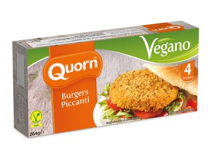 Burger piccante Quorn vegano