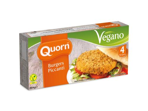 Burger piccanti Quorn vegani