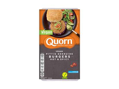Quorn vegan hot and spicy burgers